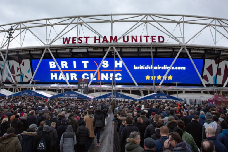 British Hair Clinic is proud to partner the iconic London Stadium, home of West Ham Utd